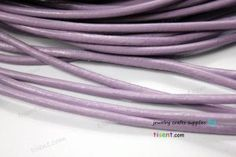 6 Feet 4mm Diameter Light Purple Leather Cords, 4mm Bracelet/Nacklace Cord