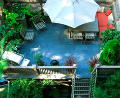 Spend a lazy afternoon in the backyard or bring your breakfast onto the deck at Clarendon Square Inn
