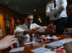 groomsmen playing poker  Wedding at Arlington Heights United Methodist and The Fort Worth Club