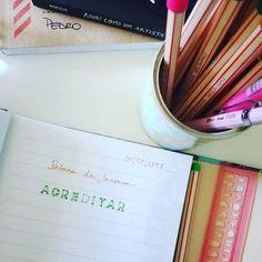 Palavra da semana por aqui: ACREDITAR 🙏✨ . E a sua, qual é? . . #acreditar #palavradasemana #mantradasemana #inspiracao #segundafeira #bomdia #boasemana #sentido #vidacomproposito #compartilhar #partilhar #sentimentos #motivacao #simplicidade #autoconhecimento #minhamissao #meucaminho #minhavida #meuautoral  #sucodenuvem #leveza #delicadezas #fofuras #DIY #decor #arte #lardocelar #cores #sonhos #slowlife
