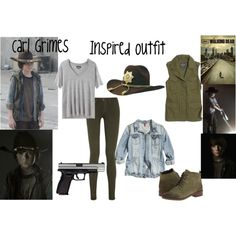 Carl Grimes inspired by anita-v-1 on Polyvore featuring Isabel Marant, H&M, Madewell, Vince and Seychelles