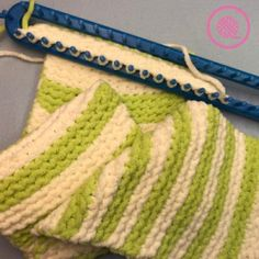 Garter Stitch Baby Blanket Loom knit this cuddly garter stitch bab. Garter Stitch Baby Blanket Loom knit this cuddly garter stitch baby blanket with free pattern and video. Loom Knitting Blanket, Loom Blanket, Loom Knitting Stitches, Loom Knitting Projects, Knitting Needles, Knifty Knitter, Sock Knitting, Knitting Tutorials, Knitting Machine