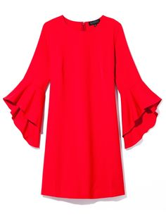 Eloquii Discount Codes: Get 25% Off With Our Exclusive Deal - red bell-sleeve mini dress