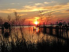 Sunset on the sound. #OuterBanks #OBX
