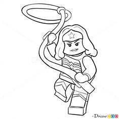 How To Draw Wonder Woman Lego Super Heroes
