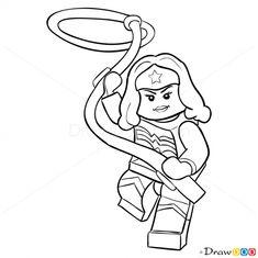 lego wonder woman coloring pages - disegni da colorare lego dc comics super heroes
