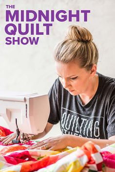 Catch Angela Walters sewing the fruit slices quilt in this week's episode of the Longarm Quilting, Free Motion Quilting, Quilting Tips, Quilting Tutorials, Machine Quilting, Quilting Projects, Midnight Quilt Show, Midnight Show, Fruit Slice