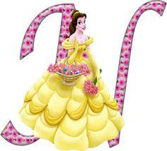 Alfabeto decorativo: Alfabeto - Princesas - PNG