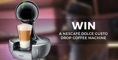 Win a Nescafé Dolce Gusto Drop Coffee Machine Coffee Making Machine, Coffee Machine, Coffee Shop, Coffee Cups, Coffee Maker, Coffee To Water Ratio, Free Sweepstakes, Happy Party, Nescafe