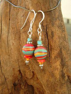 Boho Fiesta Earrings Multi Color Earrings Colorful by BohoStyleMe