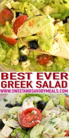 Greek Salad is an easy and healthy recipe to make at any time of the day. Take this delicious and refreshing twenty-minute recipe and make it as often as you want! salad How To Make Easy Greek Salad at Home - Sweet and Savory Meals Lettuce Salad Recipes, Fresh Salad Recipes, Salad Recipes Video, Salad Dressing Recipes, Healthy Recipes, Healthy Salads, Diet Recipes, Cooking Recipes, Savory Salads