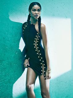Chanel Iman by James Macari for Marie Claire UK. #fashion #photography #modelsofcolor