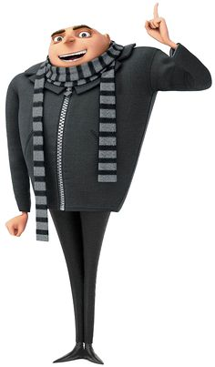 Don't get me wrong, I love minions, but Gru is far & away my favorite. He's twisted, Addams Family-style. There's nothing he won't do for his girls. He knows all of his employees by name & treats them well. HE PUNCHED A SHARK IN THE FACE. Despicable Me Gru, Minion Movie, Minions Despicable Me, Happy Minions, Minion Rush, Benjamin Bratt, Minion Birthday, Minion Party, Happy Birthday