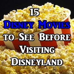 Updated August 21, 2016 You have enough to do to prepare for your Disneyland trip. I have no doubt. But, if you're wanting to ensure your crew is well educated on some basic Disneyland-related movies, I've listed some key films for your trip. There are many more than what are listed here. And...