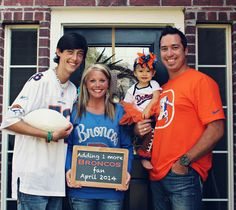 Pregnancy announcement Denver Bronco style!