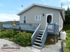 BEAUTIFUL COTTAGE ON POND MUST SEE!! Find A Job, Newfoundland, Cabins, Pond, Deck, Real Estate, Cottage, Outdoor Decor, House