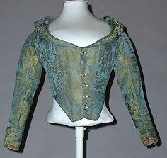 Caraco  Date:     ca. 1785 Culture:     Italian Medium:     silk