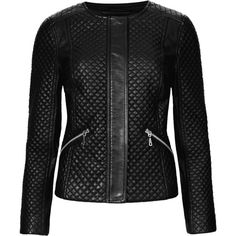 M&S Collection PETITE Faux Leather Quilted Biker Jacket (£46) ❤ liked on Polyvore featuring outerwear, jackets, coats, tops, black, quilted moto jacket, faux leather jacket, faux leather biker jacket, petite jackets and moto jackets