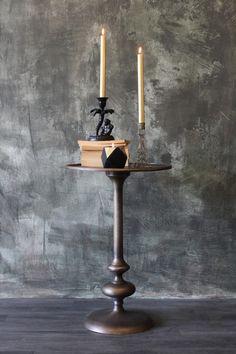 Dark Brass Round Side Table