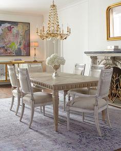 Aico Amini Hollywood Swank 9 Piece Trestle Dining Table And Chair Set By  Aico Amini, Http://www.amazon.com/dp/B007ZUI7NK/refu003dcm_sw_u2026 | My Dream Home.