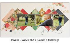 Simple Two-Page Layout. Use Hay bale photos. Photo Layouts, Page Layout, Travel Scrapbook, Scrapbook Pages, Havana Nights, Sketches Tutorial, Create Words, Scrapbooking Layouts, Paper Crafting