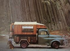 camping old style on the road Mini Camper, Camper Van, Station Wagon, Motorhome, The Road, Cool Campers, Gypsy Wagon, Bohemian House, Truck Camping