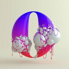 "1,003 Me gusta, 30 comentarios - TAVO STUDIO © (@_tavo_) en Instagram: ""Blup Number 0 for @36daysoftype.  #36days_0 #0 #36daysoftype #artdirection #cgart #dailytype #3d…"""