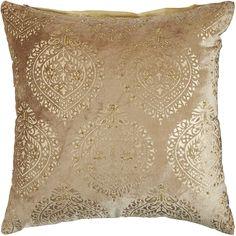 Kari Velvet Beaded Pillow - Gold | Pier 1 Imports