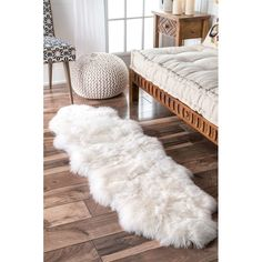 Shop nuLOOM Alexa Double Natural Soft Sheepskin Wool Shag Rug x - x - Overstock - 3498488 Natural Area Rugs, Natural Rug, Carpet Runner, Rug Runner, Sheepskin Throw, Rugs Usa, Buy Rugs, Wool Runners, Room Accessories