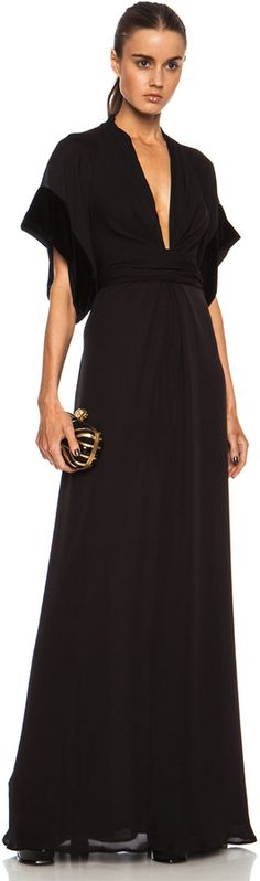 Issa Pollyanna Knot Front Maxi Silk Dress in Onyx on shopstyle.com
