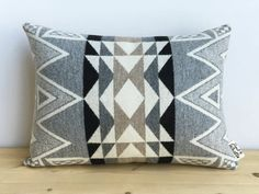 Geometric Wool Pillow // Stone Triangle by ScoutandWhistle on Etsy