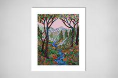 "Saatchi Online Artist: Erika Pochybova-Johnson; Acrylic, Painting ""Valley"""