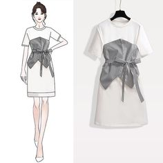 Fashion Drawing Dresses, Fashion Illustration Dresses, Fashion Dresses, Kpop Fashion Outfits, Mode Outfits, Casual Outfits, Dress Design Sketches, Fashion Design Sketches, Korean Girl Fashion