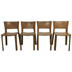 Set of Four Leather Giancarlo Vegni S91 Chairs for Fasem, Italy  http://www.fs20.com/shop/set-of-four-leather-giancarlo-vegni-s91-chairs-for-fasem-italy Set of Four Leather Giancarlo Vegni S91 Chairs for Fasem, Italy