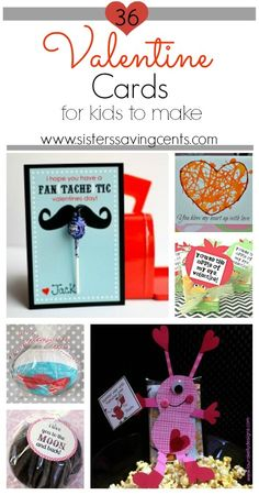 36 Homemade Valentine Cards for Kids to Make