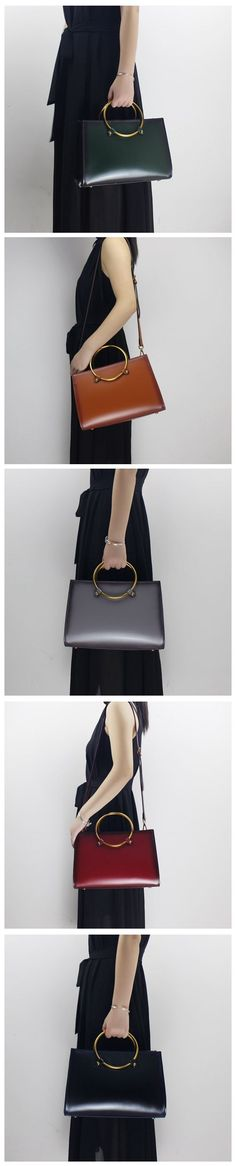 Handmade Genuine Leather Handbag Women Tote Bag Messenger Bag 14146