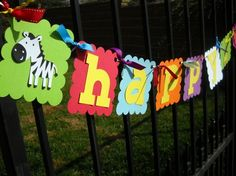 Zoo Birthday Banner