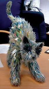 Sean Avery's recycled CD fragments cat.