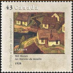 Canada 1995. Group of Seven. Realism/Naturalism. Alfred Casson. Mill Houses.