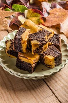 Brownie de chocolate y calabaza