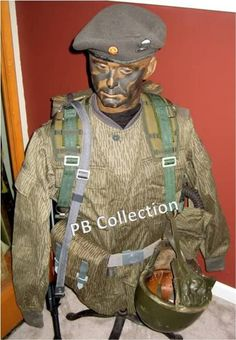 Originally Posted by Falli Guy Here is a quick photo of one of my East German paratrooper displays in my collection. You can see the grey beret, used Army Police, Military Army, Military History, Army Uniform, Military Uniforms, Military Weapons, Luftwaffe, Army Beret, Warsaw Pact