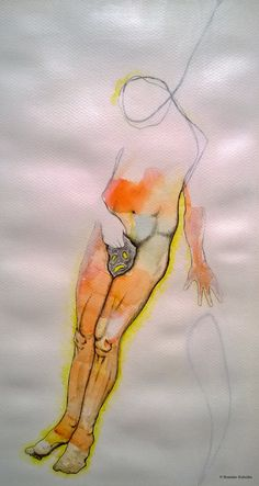 """""""My fault"""", mixed media on paper."""