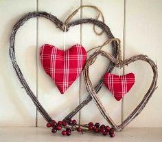 Rustic Love Hearts
