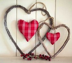 Rustic Love Hearts