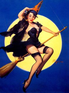 witch/pin-up/vintage