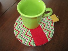 Mug Rug Pattern Free Size | These are quilt as you go... no binding and no handsewing :)