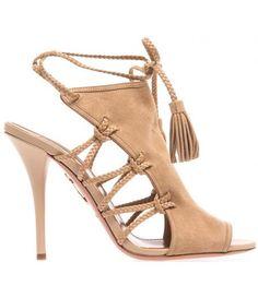 Camel tassel heel
