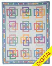 Woven Rings Baby Quilt Digital Pattern from ShopFonsandPorter.com