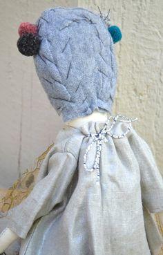 NEW jess brown HANDMADE rag doll with Metallic by ChalkFarmHome