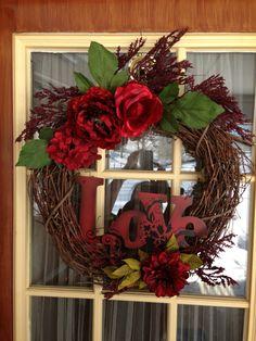 Rustic Valentines Wreath.